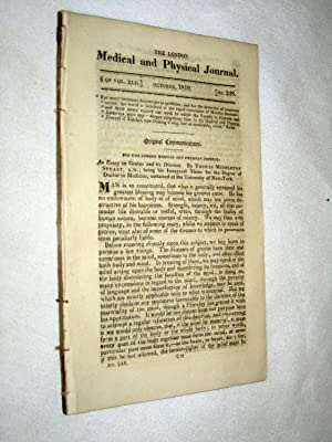 The London Medical and Physical Journal, 1819, October. Structure of the Brain, Treatment of ...