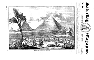The Saturday Magazine No 18, PYRAMIDS Egypt, LIBERIA, St Mary Le Bow Cheapside, 1832: John William ...
