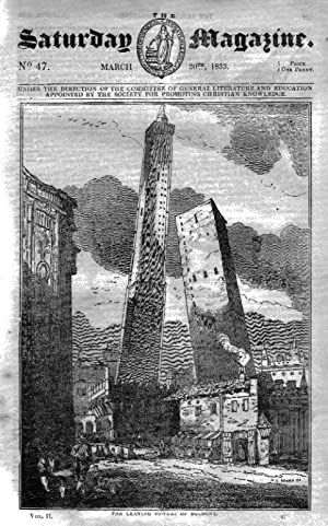 The Saturday Magazine No 47, BOLOGNA LEANING TOWERS,COLEBY Lincs,BOMBAY,1833: John William Parker, ...