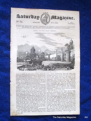 The Saturday Magazine No 74, AGRA,Taj Mahal,+ DULWICH COLLEGE,1833: John William Parker, Saturday ...