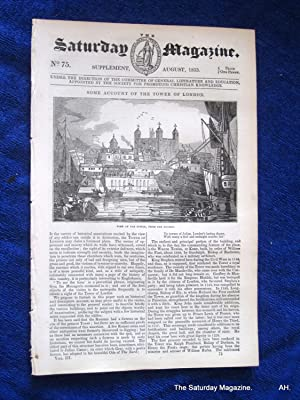 The Saturday Magazine No 75, Supplement Issue - Some Account of the TOWER of LONDON, 1833: John ...