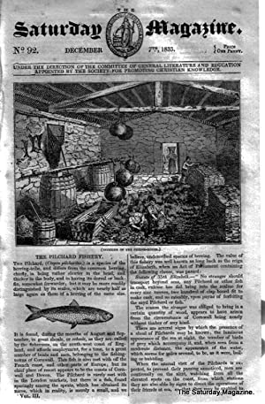 The Saturday Magazine No 92, St ALBAN ABBEY,PILCHARD FISHERY,CORAL ISLE,1833: John William Parker, ...