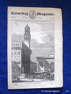 The Saturday Magazine No 97,Ruins of TYNEMOUTH PRIORY,DUCAL PALACE Florence,1834: John William ...