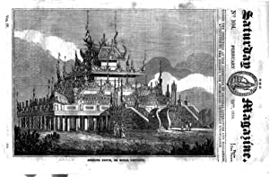 The Saturday Magazine No 104, FLOODS SCOTLAND in 1829, BURMA KIOUM, Feb 1834: John William Parker, ...
