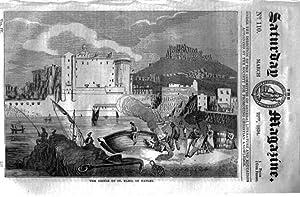 The Saturday Magazine No 110,St ELMO CASTLE Naples, All Fool's Day,HERBs,1834: John William ...