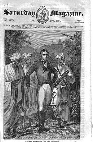 The Saturday Magazine No 127, SWITZERLAND, Via MALA, TRADE with INDIA, 1834: John William Parker, ...