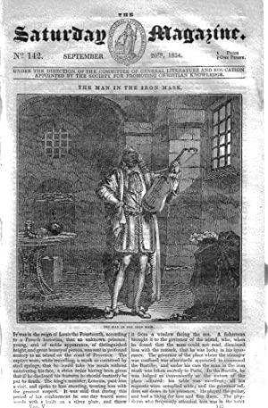 The Saturday Magazine No 142, BLACK GANG CHINE,Isle Wight,NIAGARA,PERSIA,1834: John William Parker,...