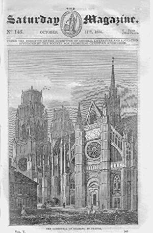 The Saturday Magazine No 146, ORLEANS CATHEDRAL, The THIBET Tibet YAK, 1834: John William Parker, ...