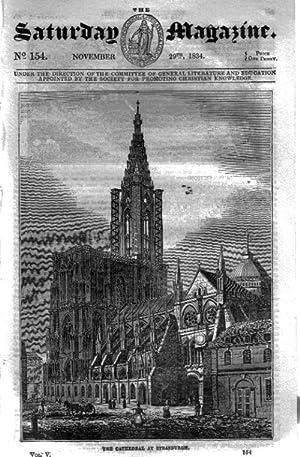 The Saturday Magazine No 154, STRASBURG CATHEDRAL, 1834: John William Parker, Saturday Magazine