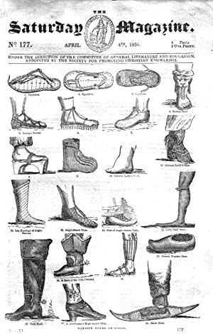 The Saturday Magazine No 177, Shoes and Their Various Forms ,COWDRAY HOUSE,Midhurst,HOPKINS ...