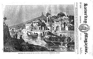 The Saturday Magazine No 210, GLASTONBURY ABBEY, + Chinese Customs (2), 1835: John William Parker, ...