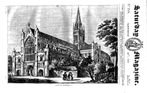 The Saturday Magazine No 218, NORWICH CATHEDRAL,+ LUNG EXERCISES, 1835: John William Parker, ...