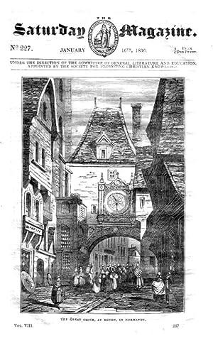 The Saturday Magazine No 227, ROUEN, France (pt2), IRISH PEASANTRY, 1836,: John William Parker, ...