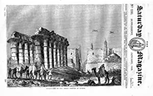The Saturday Magazine No 230, Supplement Issue - Some Account of Egyptian THEBES (Part 1). 1836,: ...