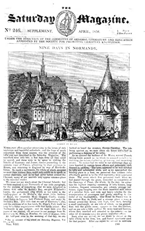 The Saturday Magazine No 246, Supplement Issue - Nine days in NORMANDY - CAEN, ROUEN, Le HAVRE,1836...