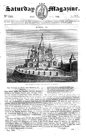 The Saturday Magazine No 248, Russia Part 3 - BASIL CHURCH MOSCOW,+ Voyage of a WHALE SHIP, 1836: ...