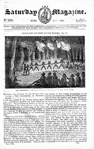 The Saturday Magazine No 255, New South Wales Part 4 + SNOWDON Wales, 1836: John William Parker, ...