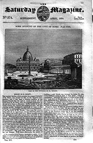 The Saturday Magazine No 374, Supplement Issue - Some Account of the City of ROME (Part 8) - ...