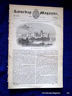 The Saturday Magazine No 450, LAMBETH PALACE and It's Historical Associations (Part 1) + On ...