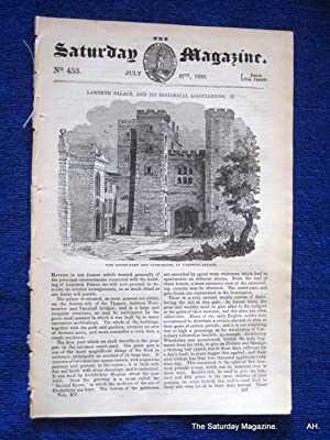The Saturday Magazine No 453, Lambeth Palace and It's Historical Associations (Part 2) + ...