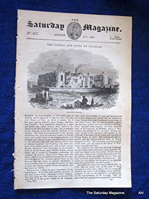 The Saturday Magazine No 457, TAUNTON, Somerset + The Comb, 1839: John William Parker, Saturday ...