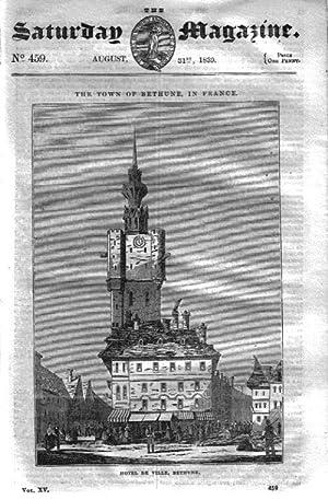 The Saturday Magazine No 459, BETHUNE, + VITRIFIED FORTS of Scotland, 1839,: John William Parker, ...