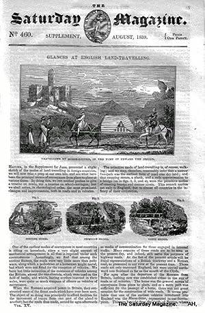 The Saturday Magazine No 460, Glances at ENGLISH LAND-TRAVEL. 1839: John William Parker, Saturday ...