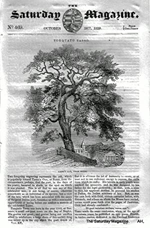 The Saturday Magazine No 469,St HELENA Island,+ JEWS - Talmud,Tasso OAK,1839: John William Parker, ...