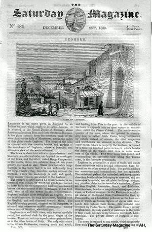 The Saturday Magazine No 480, LEGHORN LIVORNO,Tuscany, OSSETES,The Shark,1839: John William Parker,...