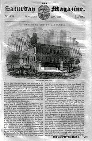 The Saturday Magazine No 489, NEW YORK & PHILADELPHIA + On Perfumes,1840,: John William Parker,...