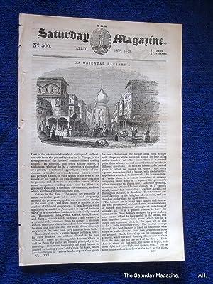 The Saturday Magazine No 500, CHELMSFORD,+ Oriental Bazaars, + ROOKS, 1840: John William Parker, ...