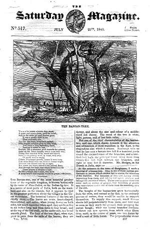 The Saturday Magazine No 517,The IONIAN ISLANDS - CORFU (Part 2)+ The BANIAN TREE,1840: John ...