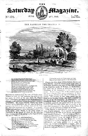 The Saturday Magazine No 576, The Banks of the Thames (Part 4) - ETON COLLEGE + On the Manufacturer...