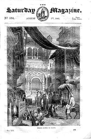 The Saturday Magazine No 584, Sketches of CAIRO (Part 1) + Labyrinths,+ BEET-ROOT SUGAR, 1841: John...