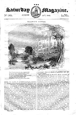 The Saturday Magazine No 585, WARWICK CASTLE,Dredging, CHESS AUTOMATON, 1841: John William Parker, ...