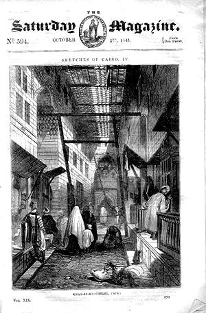 The Saturday Magazine No 594, Sketches of CAIRO (Part 4) + Tierra del Fuego, PATAGONIA,1841,: John ...