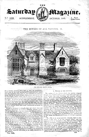 The Saturday Magazine No 599 - Supplement Issue - HOUSES of All NATIONS (Part 2) 1841: John William...