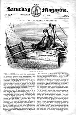 The Saturday Magazine No 607, GREEK ISLANDS & their Mariners,PALIMPSESTS,1841: John William ...