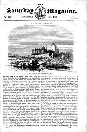 The Saturday Magazine No 608, FLOATING ISLANDS,+ CHESS (pt 24), 1841: John William Parker, Saturday...