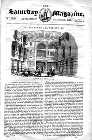 The Saturday Magazine No 609 - Supplement Issue - HOUSES of All NATIONS (Part 3), 1841: John ...