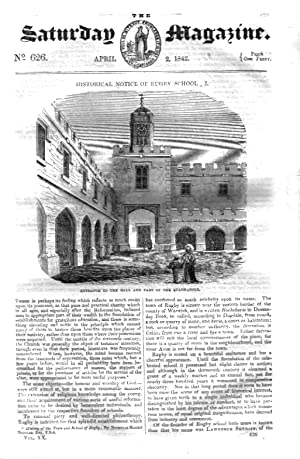 The Saturday Magazine No 626, Historical Notice of RUGBY SCHOOL (Part 1)+ APSLEY HOUSE,1842: John ...