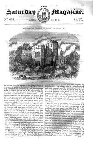 The Saturday Magazine No 628, Historical Notice of RUGBY SCHOOL (Part 2), Gunpowder, IRISH CUSTOMS ...