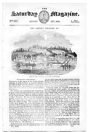 The Saturday Magazine No 522, The IONIAN ISLANDS pt4, CEPHALONIA & CERIGO, + Poisons & ...