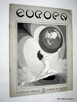 Europa, No 2. Summer 1931. Magazine.: De Grunwald, A., G. Hunter., F. J. McGrady.