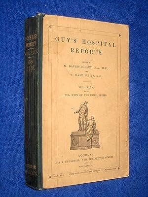 Guy's Hospital Reports, 1886 - 1887, Third Series, Vol XLIV,: Guy's Hospital, N. Davies-Colley...