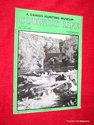 Country Life Magazine. 1950, July 21, Mrs W. R. Merton, Culham Manor, Oxon, (pt 2), Danish Museum ...
