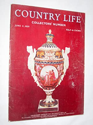 Country Life Magazine. 1959, June 11. Collectors Number. Miss Judy Young, Chevening, Cover picture ...