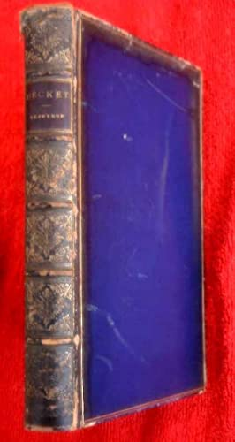 BECKET, 1884, Full Calf Binding, 1st Edition.: Tennyson, Alfred, Lord
