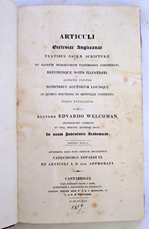 Articuli Ecclesiae Anglicanae Textibus Sacrae Scripturae Et Patrum Primaevorum Testimoniis ...
