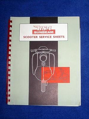 B.S.A. Sunbeam Scooter Service Sheets.: B.S.A. Motor Cycles Ltd.